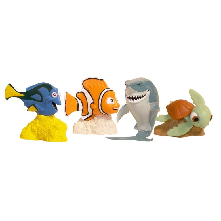 4 Pack Finding Nemo Figurines Nemo Dory Squirt Bruce Talicor